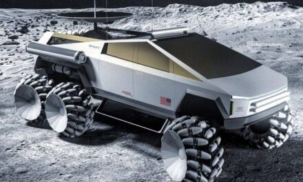 Tesla Cybertruck, in a new rendering is ready for moon missions