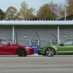 Porsche Taycan 4S vs. Model 3 Performance: Tesla accelerates faster – and more consistently