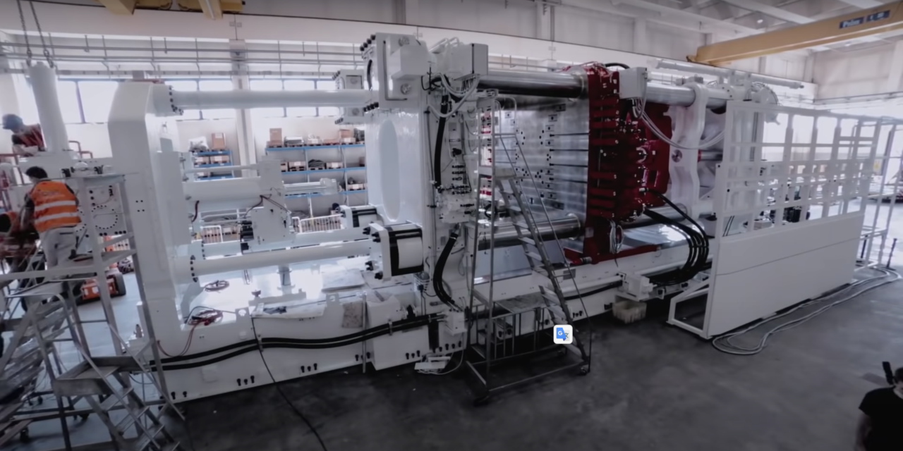 Tesla, a fascinating look at the Giga Press being assembled