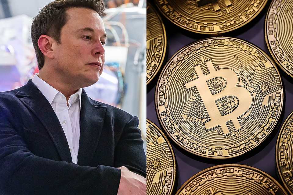 Elon Musk uses the 'diamond hands' emoji in a tweet in response to the recent decline in bitcoin.